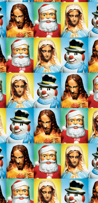 i think this might be my christmas wrapping paper this year isnt that santa creepy - Funny Christmas Wrapping Paper