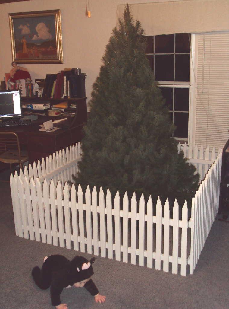 christmas tree baby repellant thing laura irrgang - Baby Gate For Christmas Tree