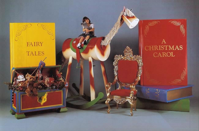 Giant_book_backdrop_rocking_horse_Santa_Throne_animated_toy_chest