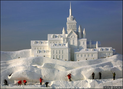 20th snow sculpture competition in china