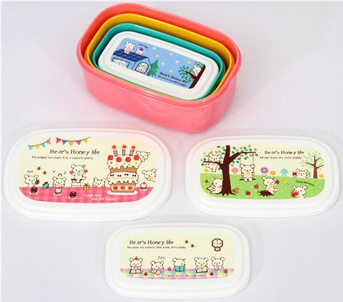 Bento-Box-4-pcs-bears-honey-life-kawaii-Lunch-Box-78061-3