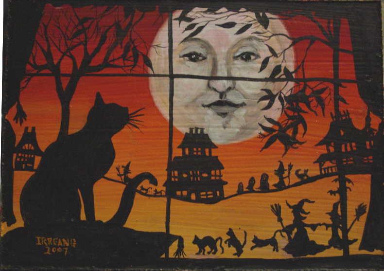 Black Cat Window 1a