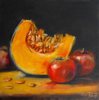 Still life with pumpkin and applesrogergoberts
