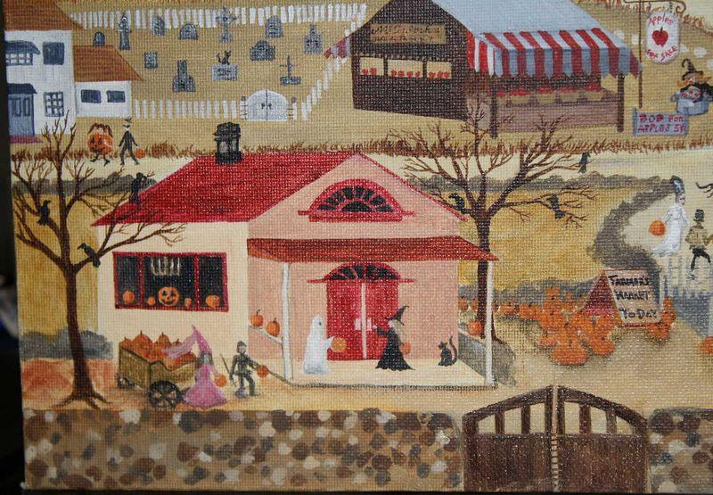 Halloween Village Lower Left