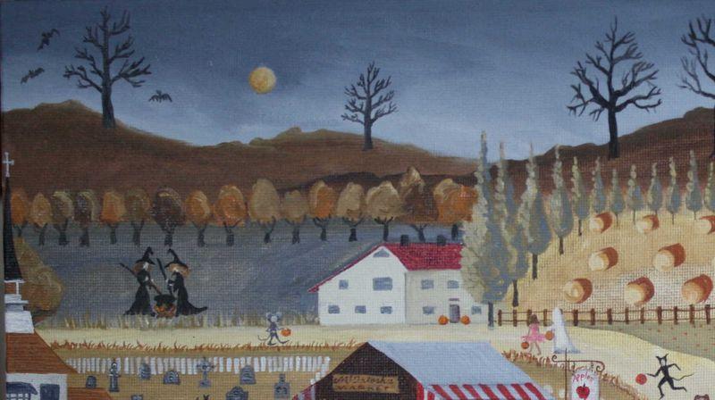 Halloween Village Upper Left