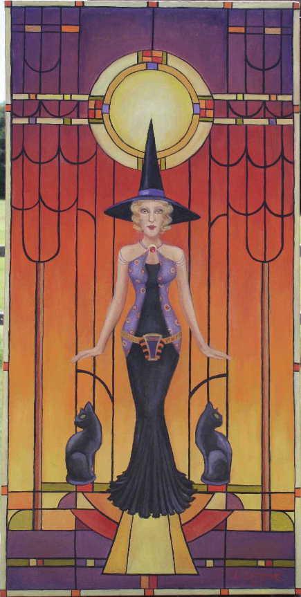 SmalsmallArt Deco Witch Small Version