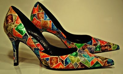 Stamp decoupage shoes - Copy