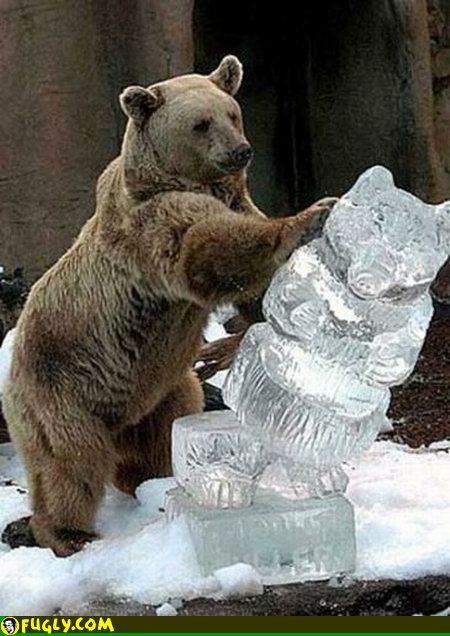 Bear-ice-sculpture