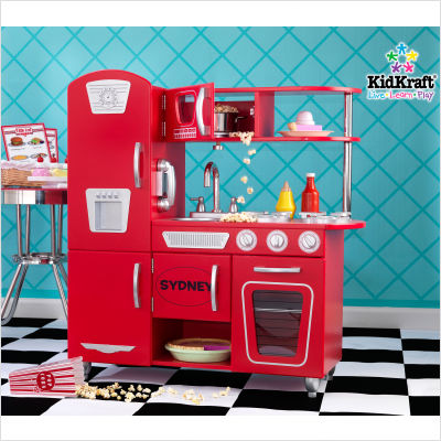 Personalized+Red+Vintage+Kitchen