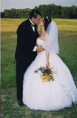 Wedding Kiss in Meadow