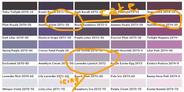 Benjmoore purples