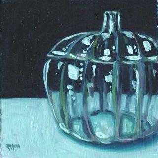Clear Glass Pumpkin 1a