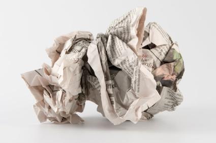 Newspaper-crumpled