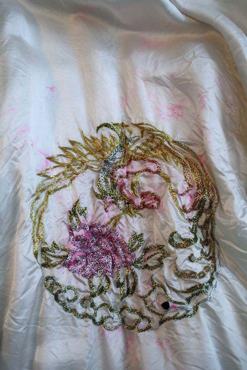 Bleeding embroidery