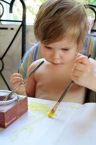 Violet Yellow Paint
