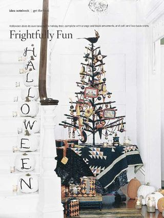 Country living halloween tree