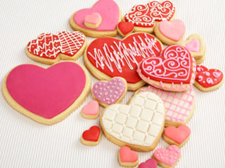 i made five dozen heart shaped sugar cookies then decorated them helped violet with all her - Decorated Valentine Cookies