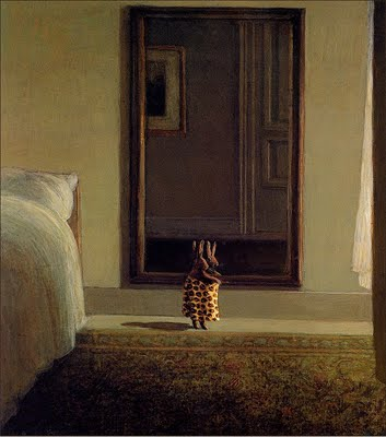 Bs ahp Michael Sowa Rabbit In Front Of The Mirror