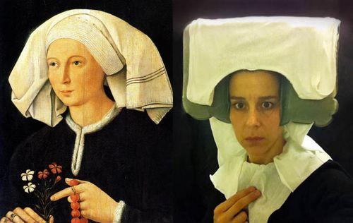 Flemish-portraiture-recreated-in-airplane-bathroom-nina-katchadourian-1