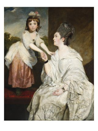Joshua-reynolds-portrait-of-mrs-sarah-otway-in-white-costume-with-her-daughter-jane-before-a-window
