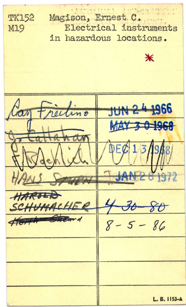 Library checkout cards the rhinestone bookmark a lot since the dawn of the internet and i get kind of nostalgic about the good old stuffy days one thing i miss in particular are library check out pronofoot35fo Images