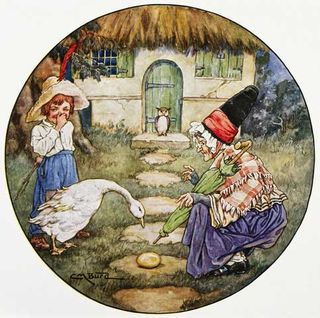 435335_Book-Illustration-Showing-Jack-And-The-Goose-That-Laid-The-Golden-Egg
