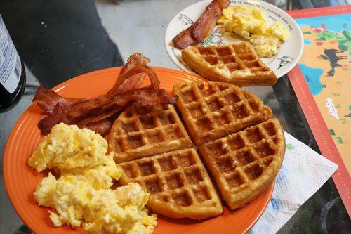 Waffles Eggs
