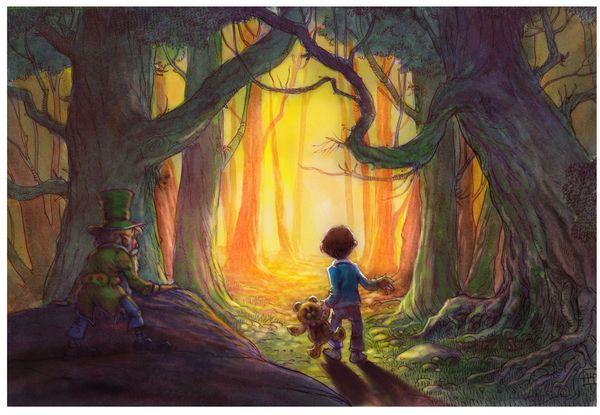 Leprechaun Fairy Tale Art The Rhinestone Bookmark