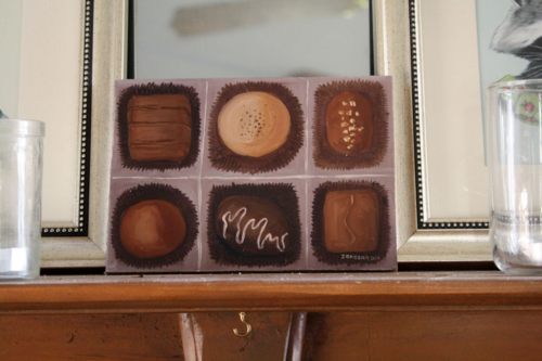 ChocolatesPaintingonMantle