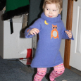 Toddler dress Upcycled from Adult Sweater