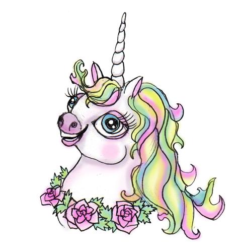 Unicorn portrait