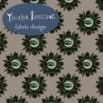 A-Grey green eye flowers fabric design
