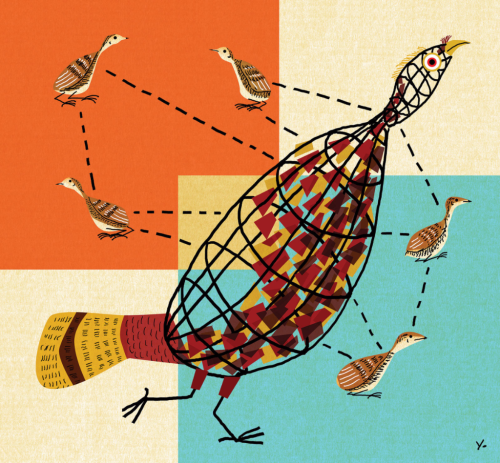 Turkey Talk Charley Harper