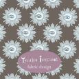 Grey blue eye flowers fabric design