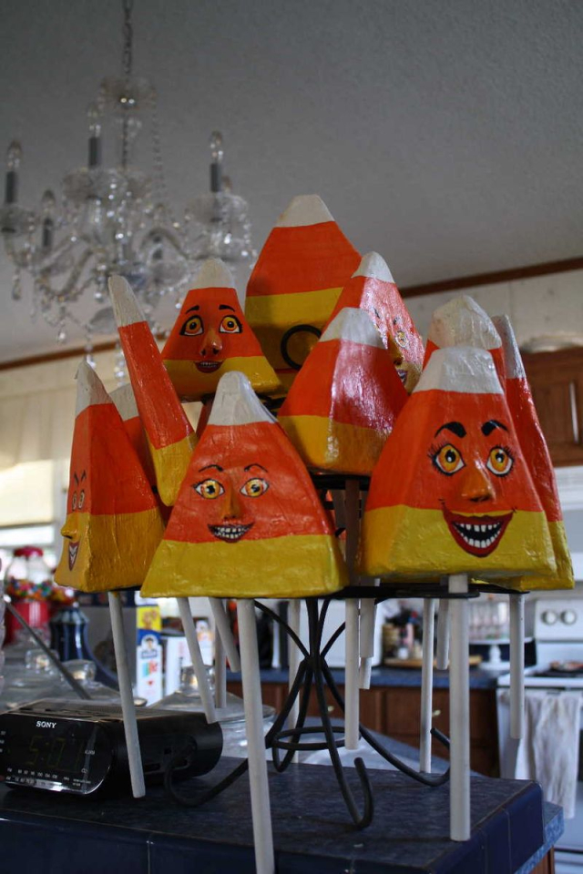 Candy Corn Shakers Stand