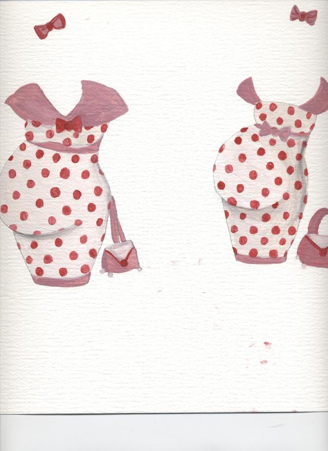 Paper Doll Pregnant Polka Dots
