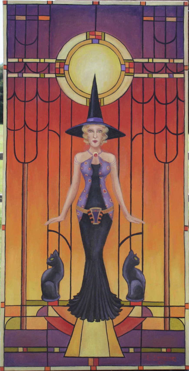 Art Deco Witch Small Version